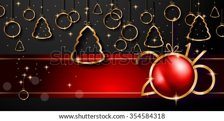 Beautiful elegant merry christmas greeting card background with 2016 happy new year and merry christmas background for seasonal greetings cards parties flyer m4hsunfo