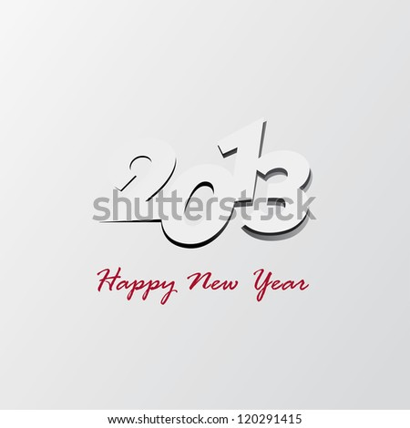 2013 happy new year background - stock vector