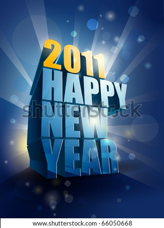 stock vector  happy new year card illustration editable eps vector 66050668 - HAPPY NEW YEAR 2011 Cards|Wishes|Warm Welcome New Year|