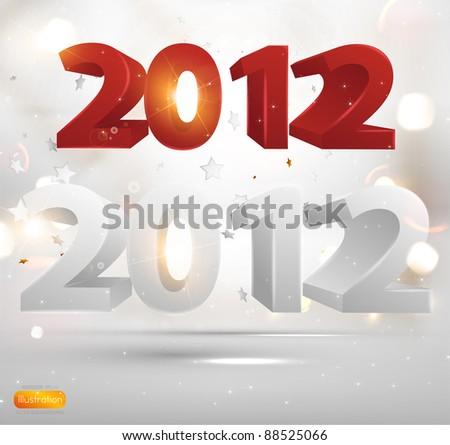 2012 happy new year elements