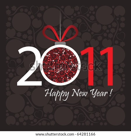 stock vector : 2011 Happy New Year greeting card or background.