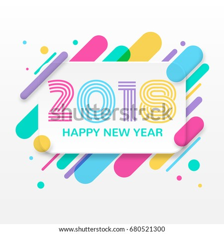 2018 happy new year greeting