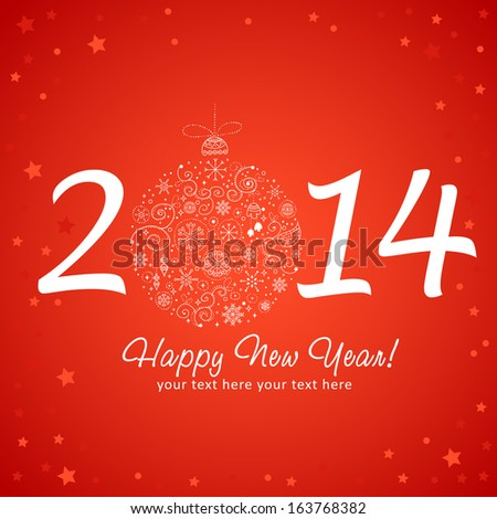 New Year Greeting Card Designs 2014 happy new year greeting