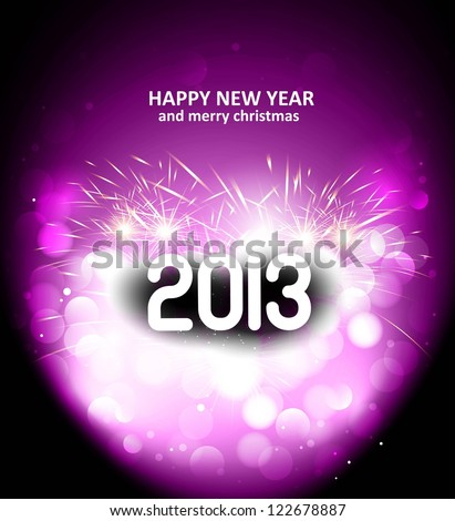 Happy New Year 2013 holiday vector card