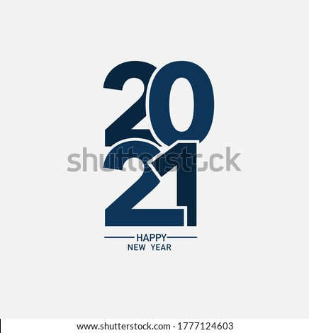 2021 happy new year logo text design, Vector illustration