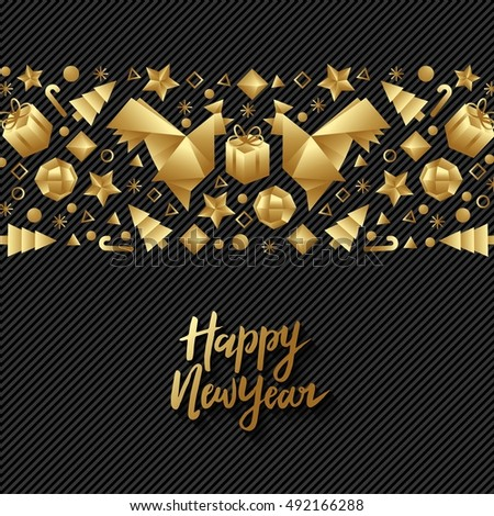 happy new year luxury gold