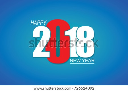 2018 happy new year or christmas background creative greeting card design illustrator eps 10