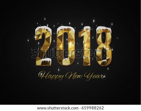 2018 happy new year snow background.merry Christmas. #659988262