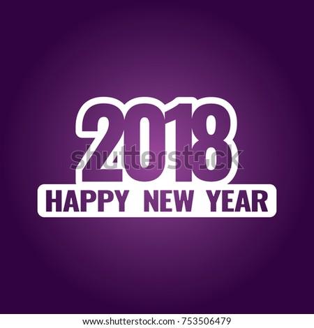 2018 happy new year text on dark background