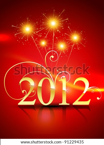 2012 happy new year vector design