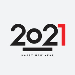 2021 Happy New Year Vector Fireworks Numbers for Calendar Design. Winter Holidays Greeting Card or Seasonal Flyers