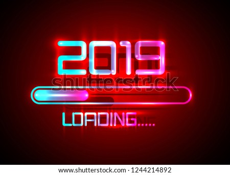2019 happy new year with