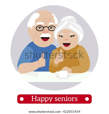 happy retired people give