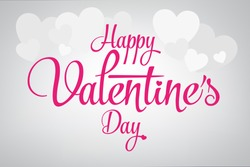 2015 Happy Valentine's day lettering card. Vector illustration.