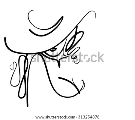hat vector  stylish