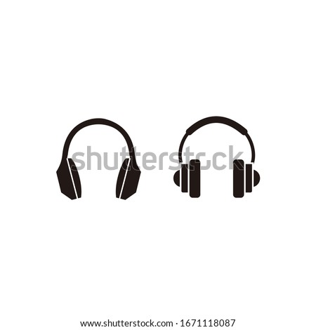 headphones earphones flat icon