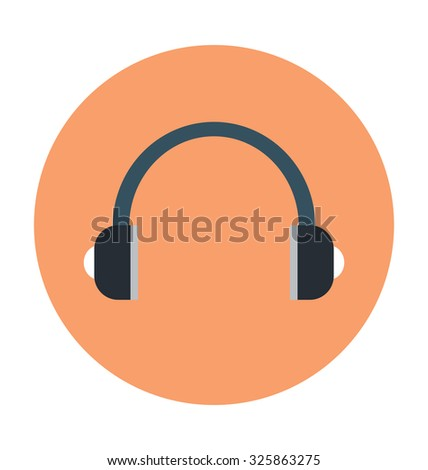 headset colored vector