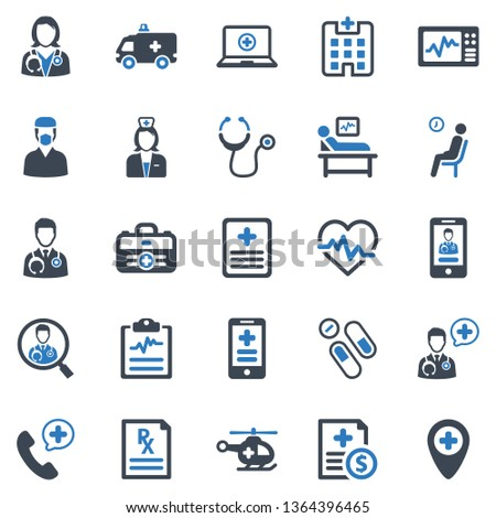 healthcare   medical icon set
