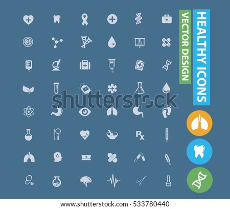 Healthy care and medical icons design,clean vector