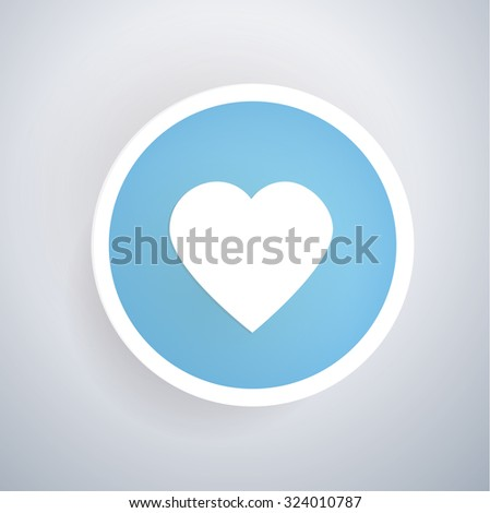 heart icon design on blue