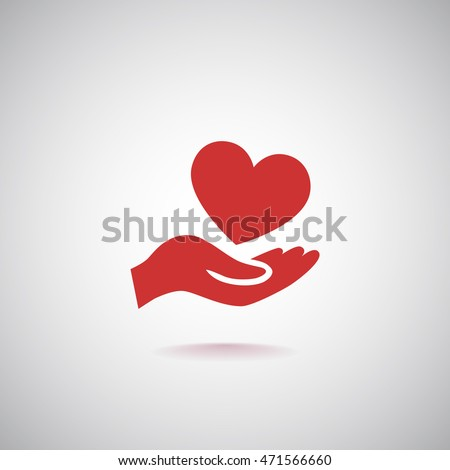 Heart icon vector .
