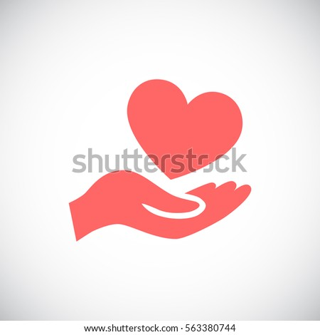 Heart icon vector .