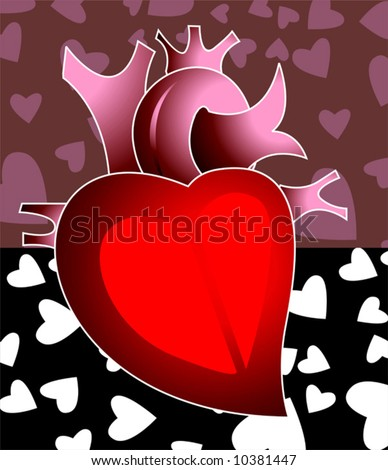 Hearts And Love Symbols. stock vector : heart In love