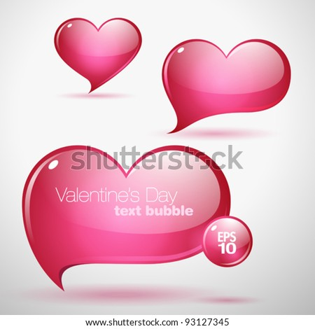 heart shaped vector text