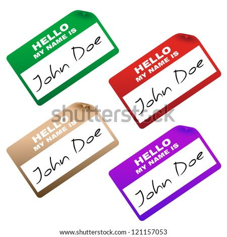 """""""hello my name is"""" card/sticker - stock vector"""