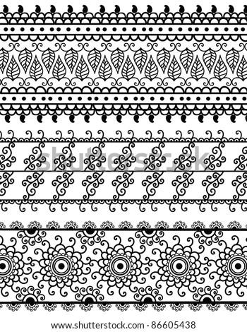 henna inspired banners borders - photo #9