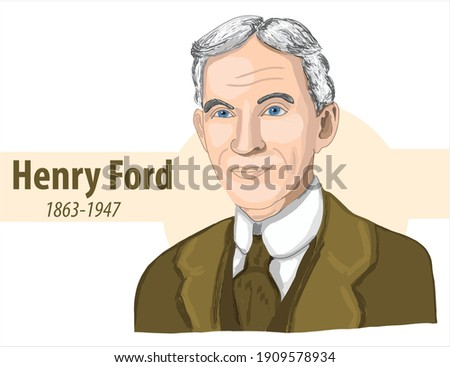 'henry ford' 1863 1947 cartoon