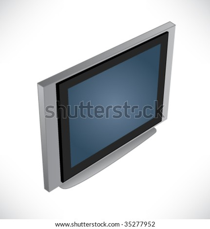 Hi-End. Plasma LCD TV display. Vector.