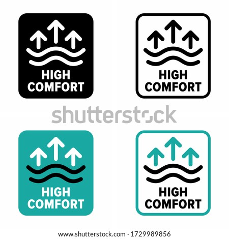 'High comfort' zone, item, fabric information sign Zdjęcia stock ©
