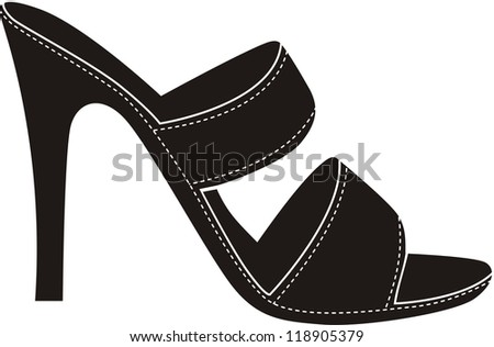 high heels black shoes