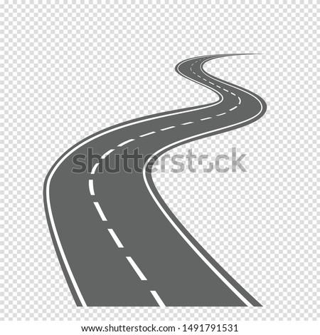 Highways and Bending roads vector illustrations