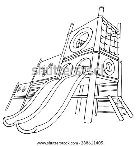 hildren's playground at public