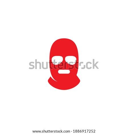 3 hole mask logo or icon design