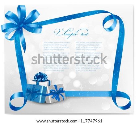 holiday background with blue