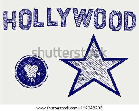 Hollywood. Doodle style