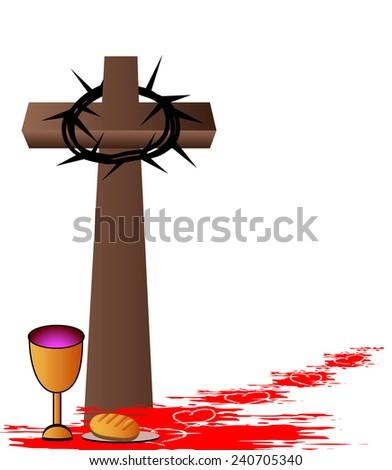 holy communionbread wine