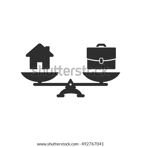 home and business scales icon