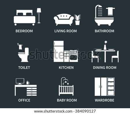 home interior design icons for