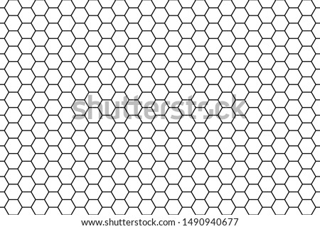 Honeycomb grid texture and geometric hive hexagonal honeycombs. Grid seamless pattern. Hexagonal cell texture. Honeycomb on white background.  Fashion geometric design.Vector illustration.