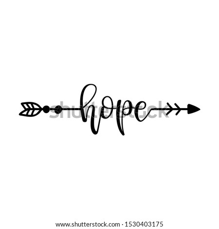 'hope' in boho arrow   lovely