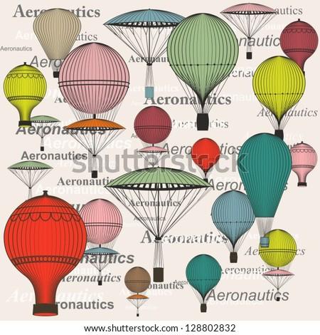 hot air balloon, seamless
