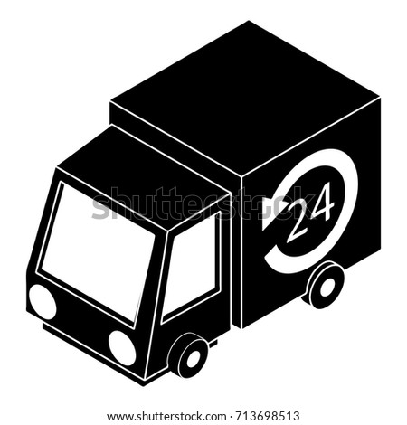 24 hour delivery icon simple