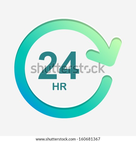 24 hour green and light background Vector Element