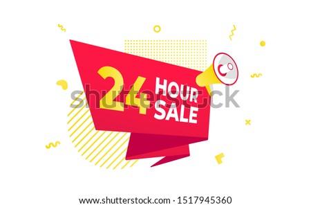 24 hour sale countdown ribbon