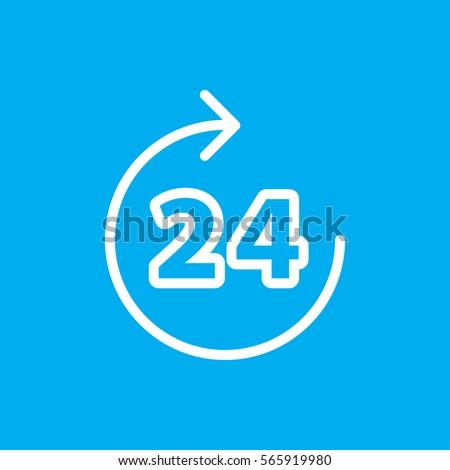 24 hours icon illustration
