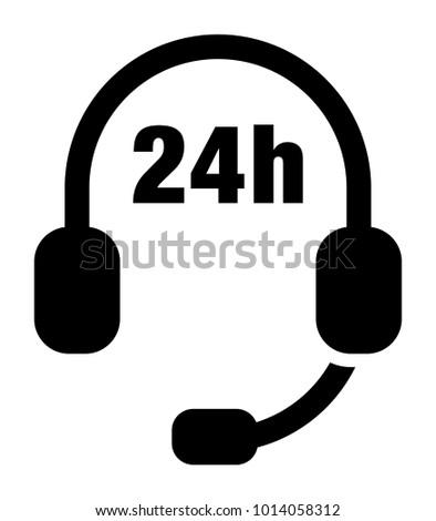 24 Hours Telephone Line vector icon